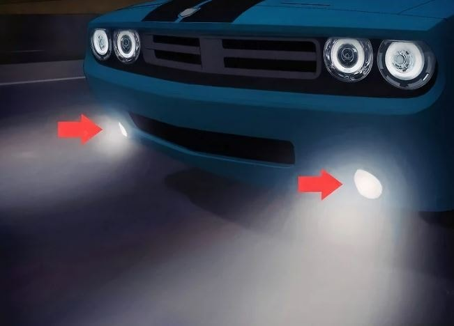 چراغهای مه شکن را تنظیم کنید