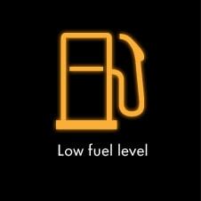 چراغ بنزین روشن