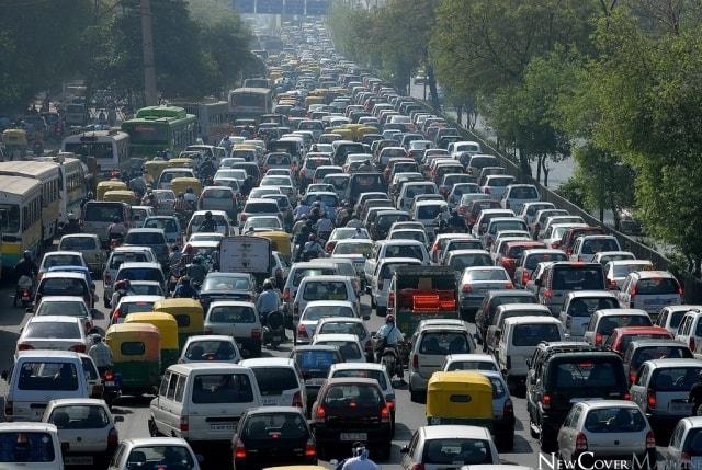 داغ کردن ماشین در ترافیک
