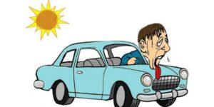 کولر ماشین در هوای گرم